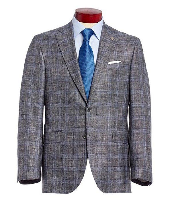ダニエル クレミュ メンズ ジャケット・ブルゾン アウター Classic Fit Plaid Sportcoat Grey