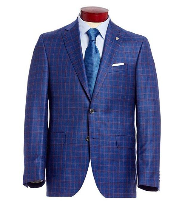 ダニエル クレミュ メンズ ジャケット・ブルゾン アウター Classic Fit Plaid Wool Sportcoat Blue