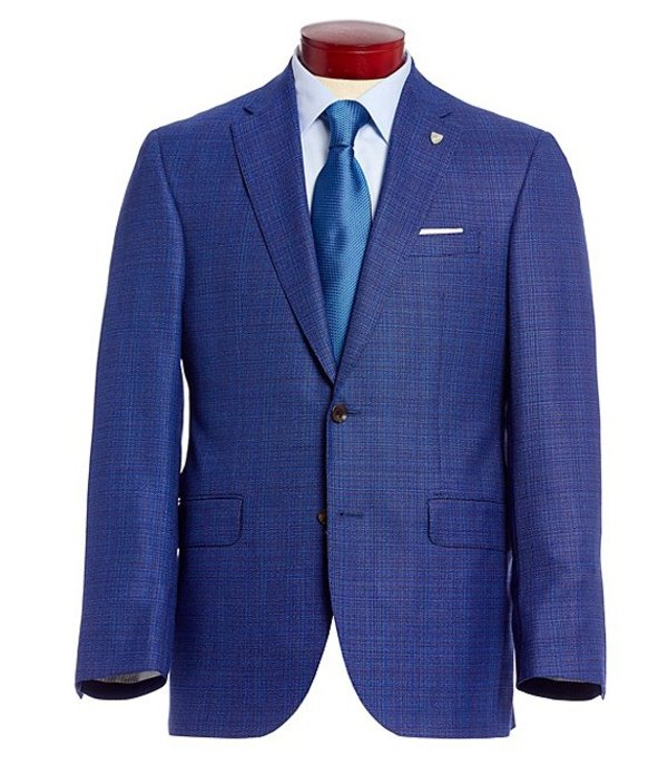 ダニエル クレミュ メンズ ジャケット・ブルゾン アウター Classic Fit Blue Neat Wool Sportcoat Blue