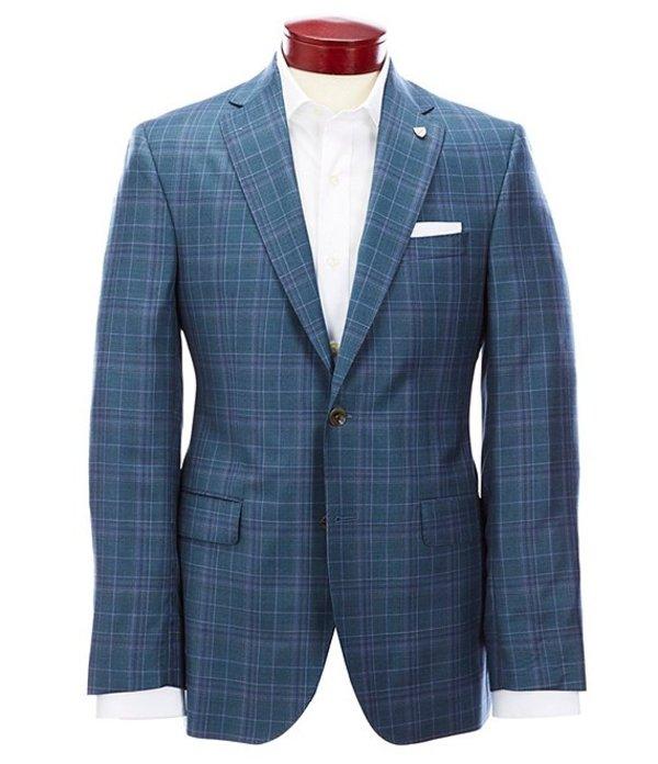 ダニエル クレミュ メンズ ジャケット・ブルゾン アウター Classic Fit Teal Plaid Wool Sportcoat Teal