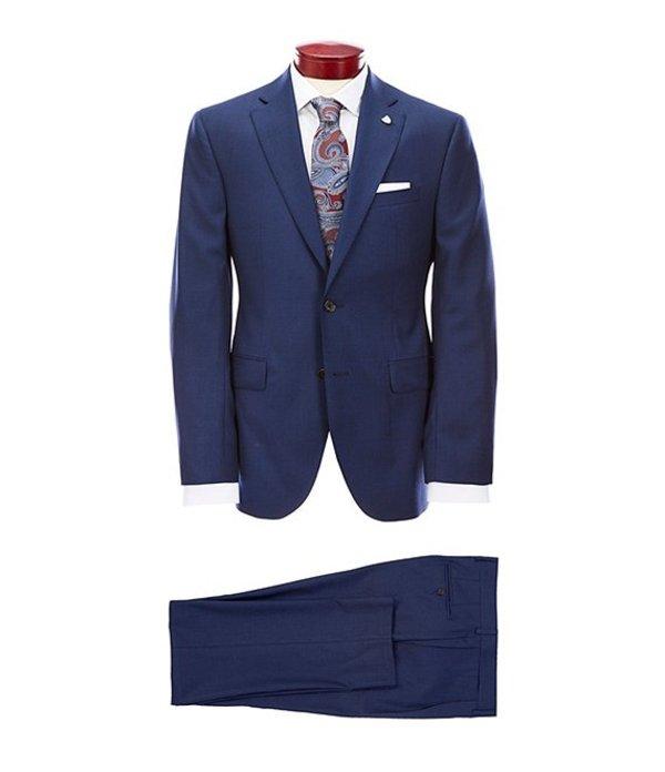 ダニエル クレミュ メンズ ジャケット・ブルゾン アウター Modern Fit Blue Neat Wool Suit Navy