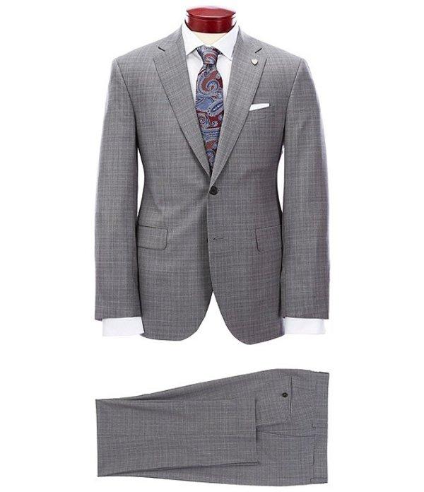 ダニエル クレミュ メンズ ジャケット・ブルゾン アウター Modern Fit Micro Plaid Grey Wool Suit Grey