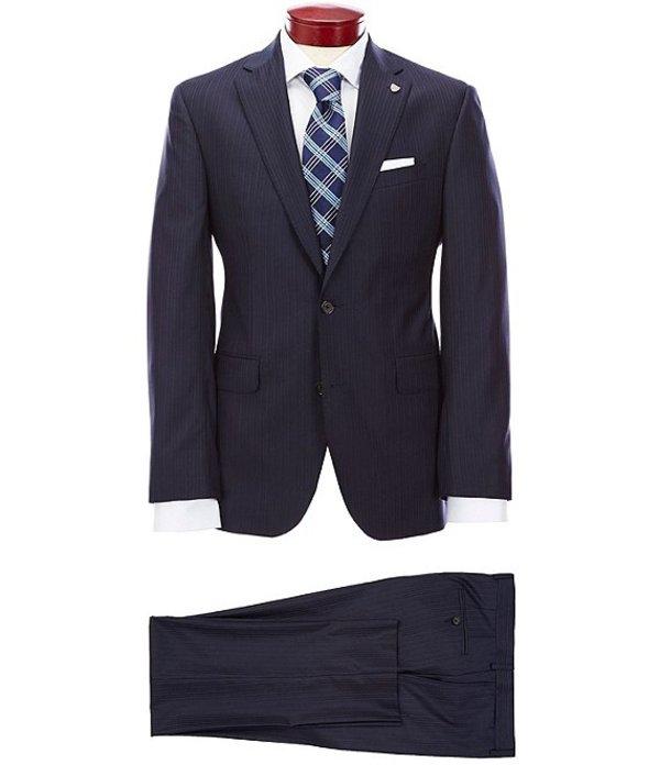 ダニエル クレミュ メンズ ジャケット・ブルゾン アウター Modern Fit Striped Navy Wool Suit Navy