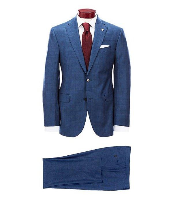 ダニエル クレミュ メンズ ジャケット・ブルゾン アウター Modern Fit Large Blue Plaid Wool Suit Blue