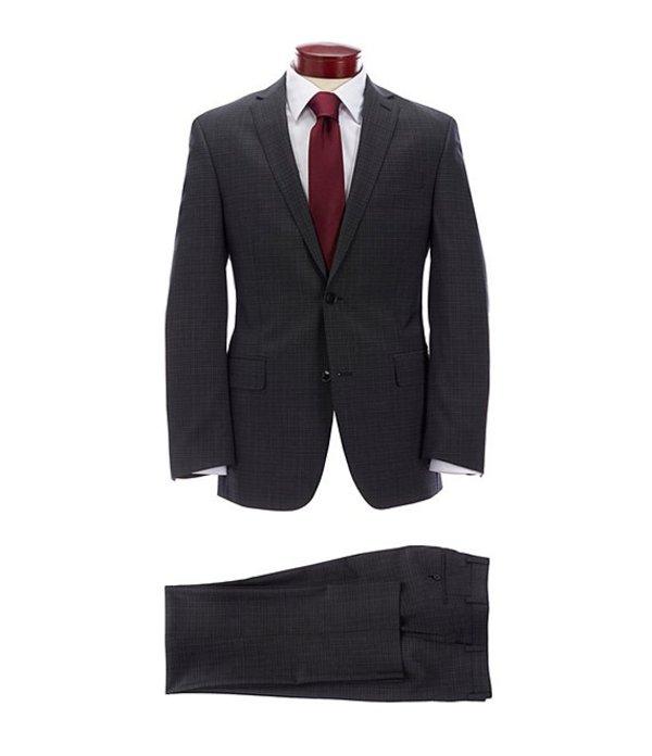 ムラノ メンズ ジャケット・ブルゾン アウター Slim Fit Black Fancy Wool Suit Black