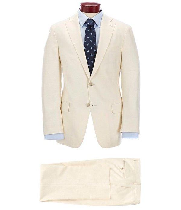 ハート シャフナー マルクス メンズ ジャケット・ブルゾン アウター Classic Fit Pleated Solid Ecru Suit Ecru