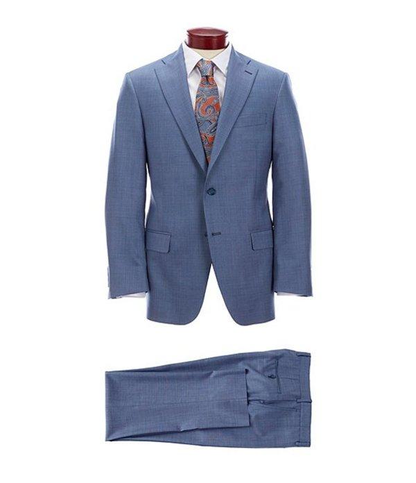 ハート シャフナー マルクス メンズ ジャケット・ブルゾン アウター Classic Fit Solid Blue Wool Suit Blue