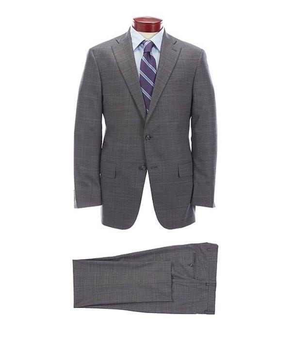 ハート シャフナー マルクス メンズ ジャケット・ブルゾン アウター Classic Fit Medium Grey Plaid Wool Blend Suit Grey