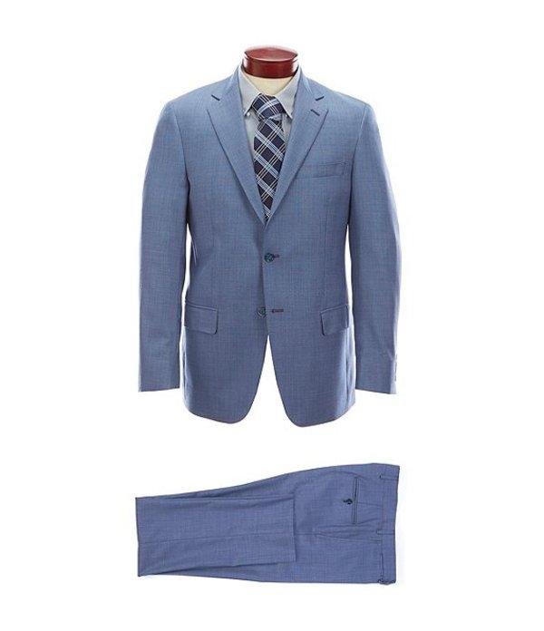 ハート シャフナー マルクス メンズ ジャケット・ブルゾン アウター Modern Fit Solid Wool Suit Blue