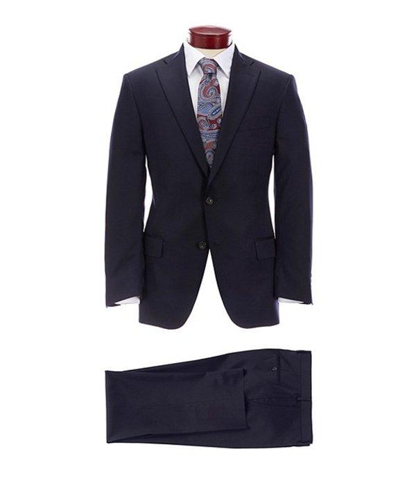 ハート シャフナー マルクス メンズ ジャケット・ブルゾン アウター Classic Fit Solid Navy Wool Blend Suit Navy