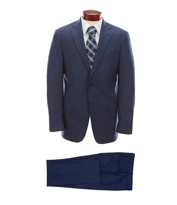 ハート シャフナー マルクス メンズ ジャケット・ブルゾン アウター Modern Fit Solid Blue Wool Suit Blue