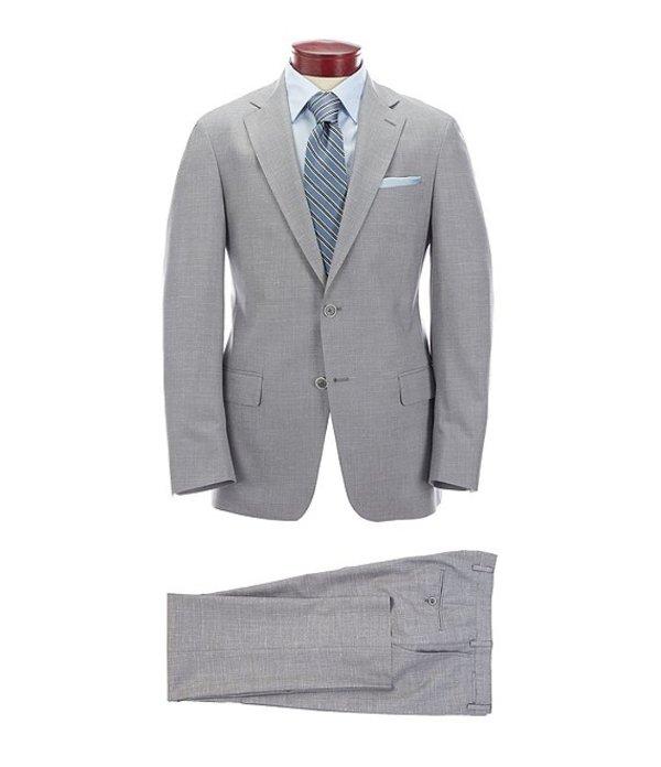 ハート シャフナー マルクス メンズ ジャケット・ブルゾン アウター Modern Fit Solid Grey Wool Blend Suit Grey