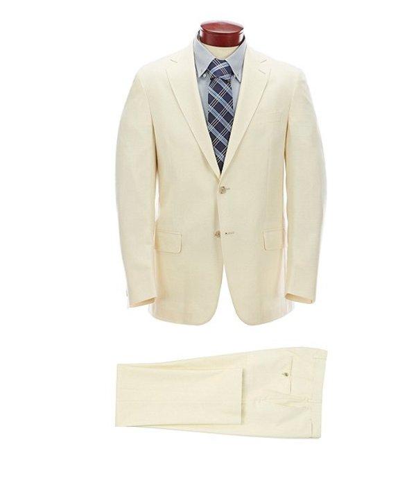ハート シャフナー マルクス メンズ ジャケット・ブルゾン アウター Classic Fit Solid Ecru Wool Blend Suit Ecru