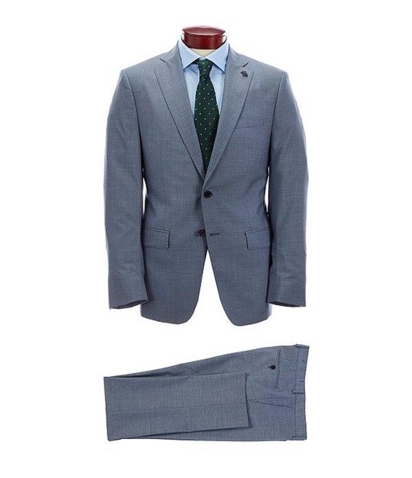 サイコバニー メンズ ジャケット・ブルゾン アウター Slim Fit Fancy Light Blue Wool Suit Blue