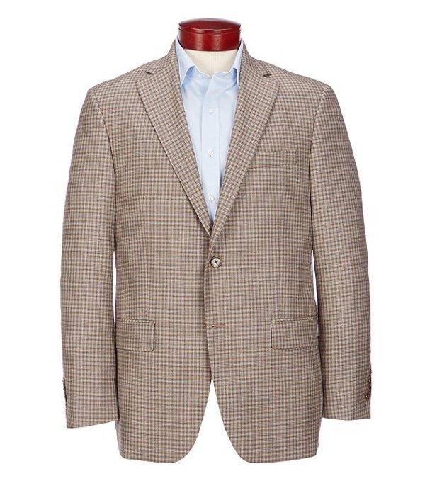 ハート シャフナー マルクス メンズ ジャケット・ブルゾン アウター Classic Fit Brown Fancy Wool Sportcoat Brown