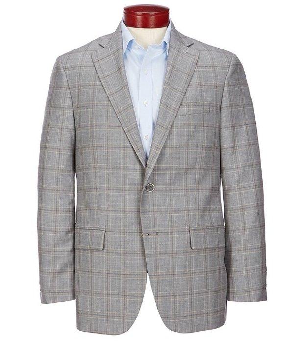 ハート シャフナー マルクス メンズ ジャケット・ブルゾン アウター Classic Fit Light Grey Plaid Wool Sportcoat Grey