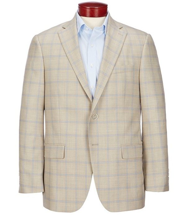 ハート シャフナー マルクス メンズ ジャケット・ブルゾン アウター Classic Fit Tan Plaid Wool Sportcoat Tan