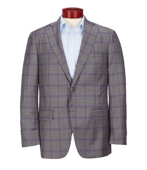 ハート シャフナー マルクス メンズ ジャケット・ブルゾン アウター Classic Fit Purple Plaid Wool Sportcoat Grey
