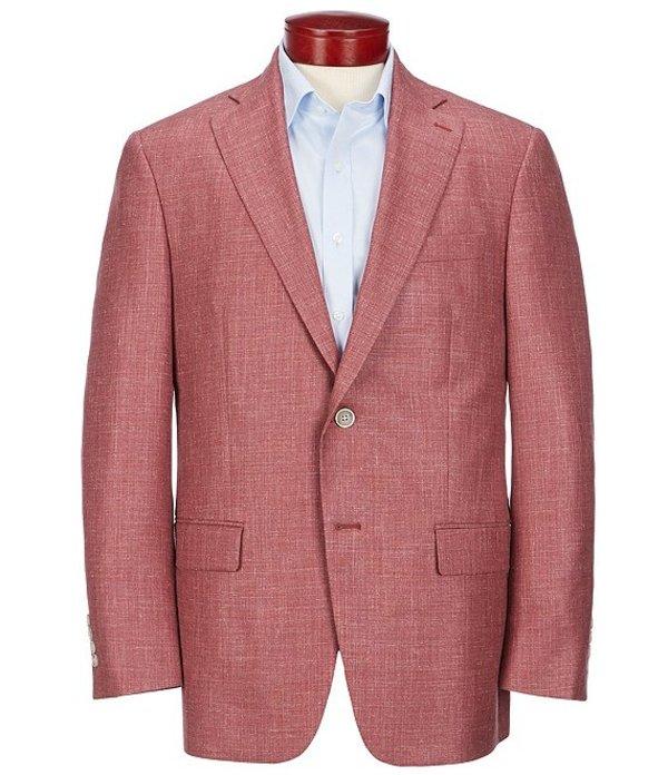 ハート シャフナー マルクス メンズ ジャケット・ブルゾン アウター Classic Fit Solid Red Wool Blend Sportcoat Red