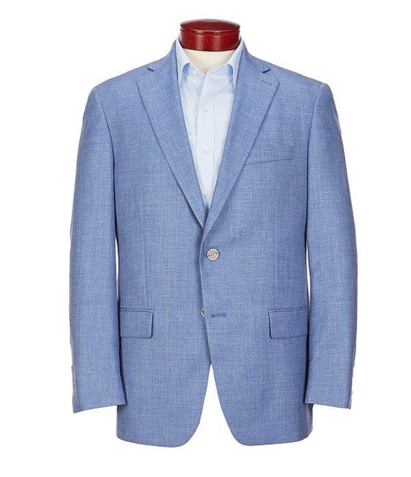 ハート シャフナー マルクス メンズ ジャケット・ブルゾン アウター Classic Fit Solid Blue Wool Blend Sportcoat Blue