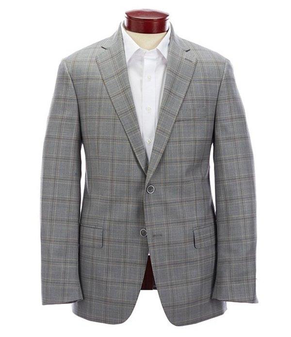ハート シャフナー マルクス メンズ ジャケット・ブルゾン アウター Modern Fit Light Grey Plaid Wool Sportcoat Grey