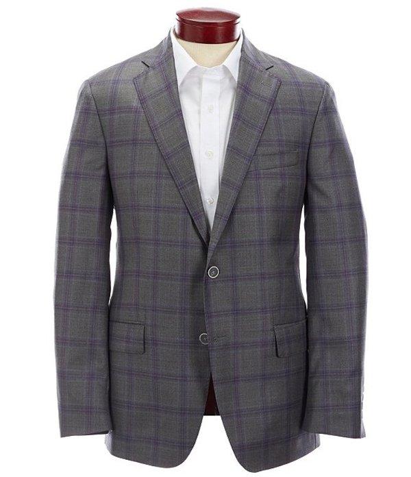 ハート シャフナー マルクス メンズ ジャケット・ブルゾン アウター Modern Fit Purple Plaid Wool Sportcoat Grey