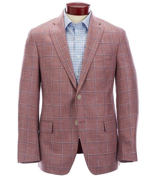 ハート シャフナー マルクス メンズ ジャケット・ブルゾン アウター Modern Fit Red Plaid Wool Blend Sportcoat Red
