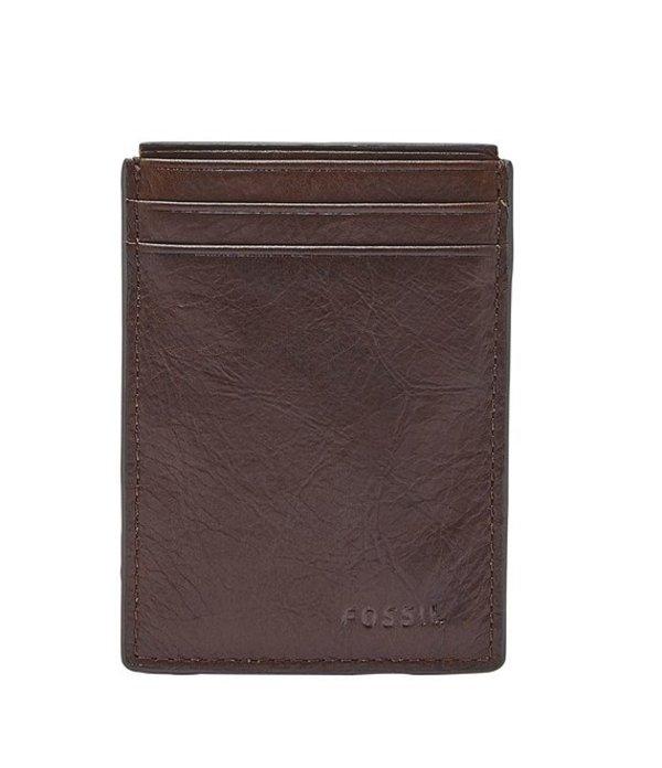 フォッシル メンズ 財布 アクセサリー Neel Magnetic Card Case Brown