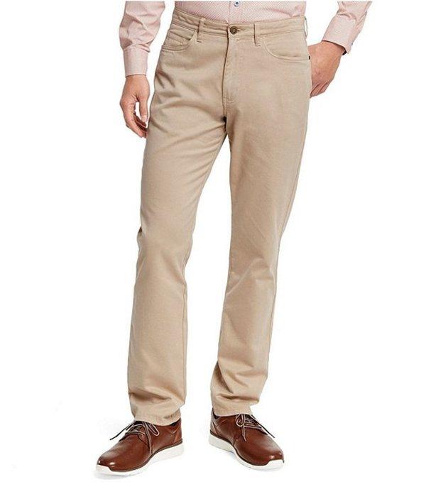ジョンストンアンドマーフィー メンズ カジュアルパンツ ボトムス Five-Pocket Straight-Fit Pants Khaki