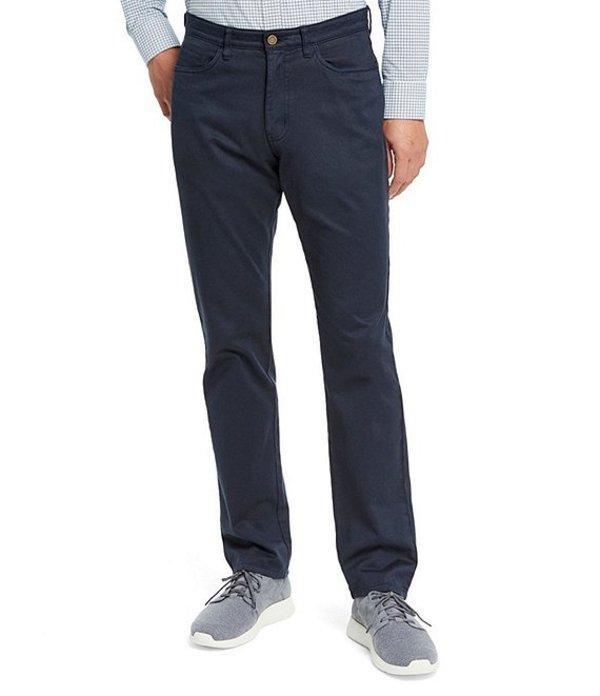 ジョンストンアンドマーフィー メンズ カジュアルパンツ ボトムス Five-Pocket Straight-Fit Pants Navy
