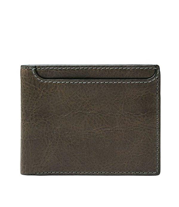 フォッシル メンズ 財布 アクセサリー Morris Leather Bifold Wallet with ID Cement