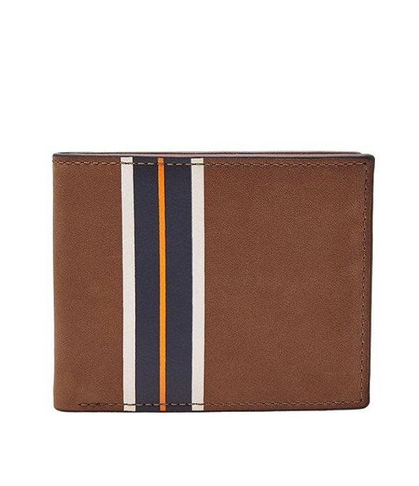 フォッシル メンズ 財布 アクセサリー Hans Leather Bifold Wallet with Flip ID Cognac