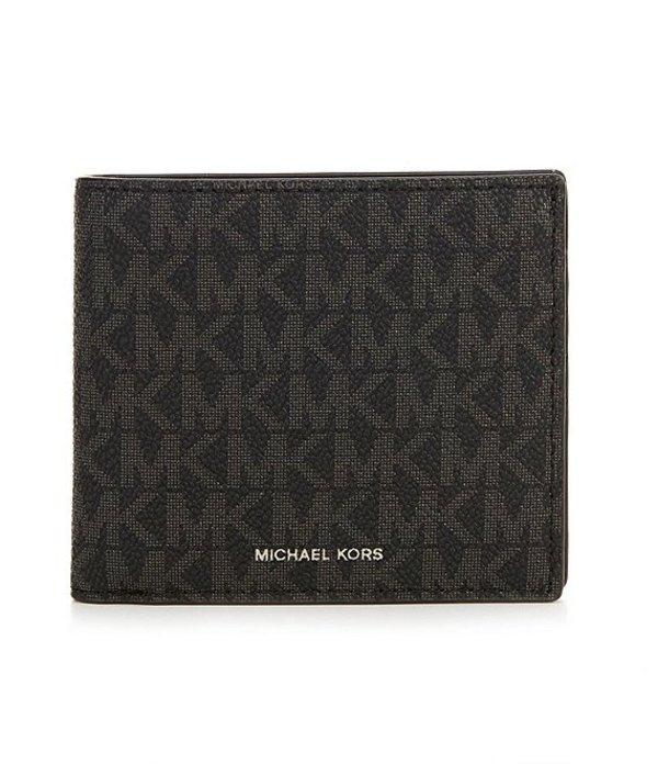 マイケルコース メンズ 財布 アクセサリー Mason Signature Billfold Wallet Black