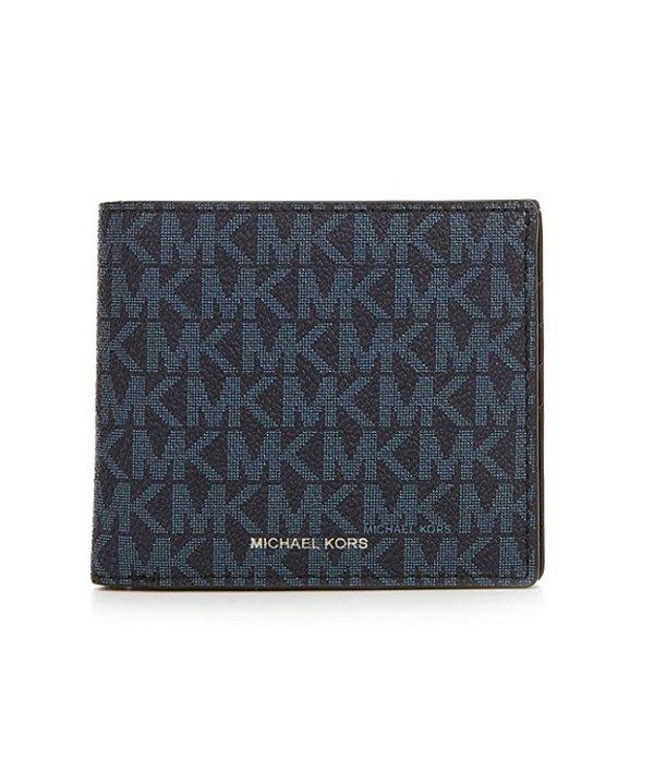 マイケルコース メンズ 財布 アクセサリー Mason Signature Billfold Wallet Purple Blue
