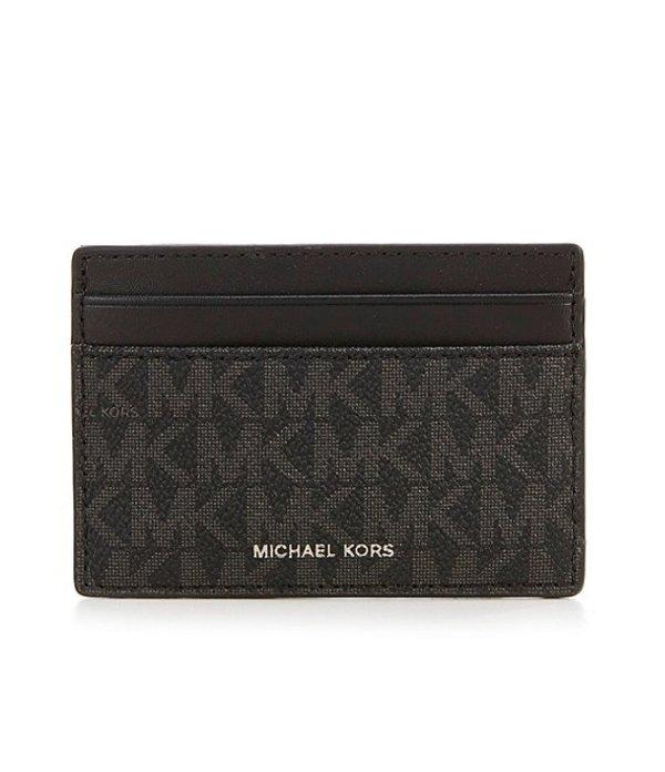 マイケルコース メンズ 財布 アクセサリー Mason Signature Card Case Black