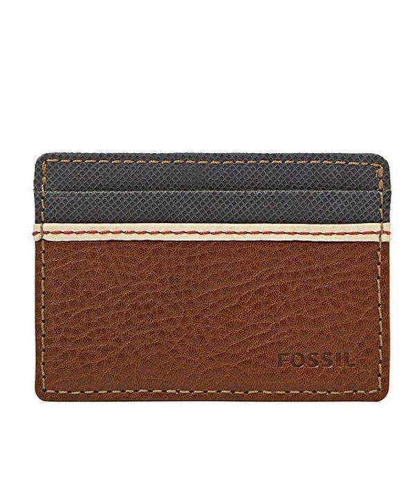 フォッシル メンズ 財布 アクセサリー Elgin Id Card Case Front Pocket Wallet Brown