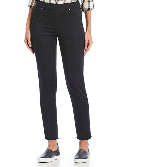 イントロ レディース カジュアルパンツ ボトムス Sheri Pull-On Frayed Hem Ankle Pants Ebony Black