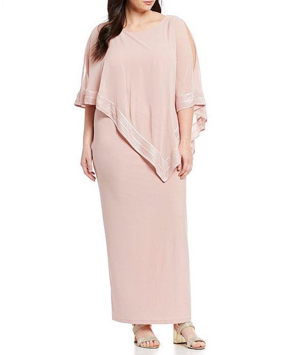イグナイト レディース ワンピース トップス Plus Size Asymmetric Popover Long Dress Faded Rose
