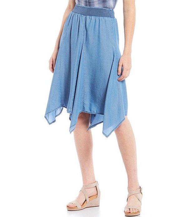 イントロ レディース スカート ボトムス Petite Size Lyocell Sharkbite Skirt Sun Wash