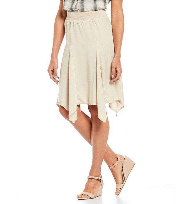 イントロ レディース スカート ボトムス Petite Size Lyocell Solid Pull-On Godet Skirt Sand
