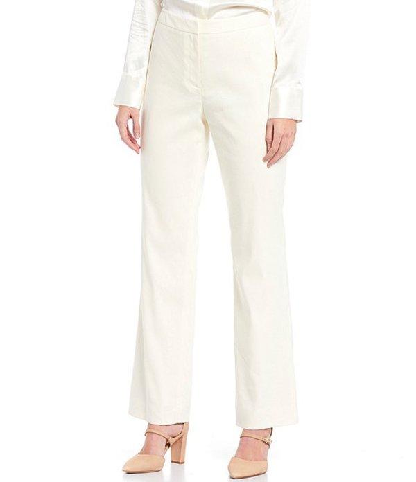 アントニオ メラーニ レディース カジュアルパンツ ボトムス Tilda Stretch Crosshatch Suiting Straight Leg Pants Ivory