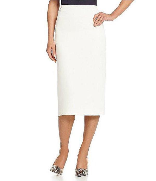 プレストンアンドヨーク レディース スカート ボトムス Taylor Stretch Crepe Suiting Midi Pencil Skirt Ivory