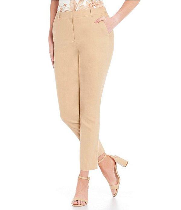 アントニオ メラーニ レディース カジュアルパンツ ボトムス Gilda Linen Blend Straight Leg Ankle Pants Ginger