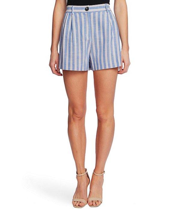 セセ レディース ハーフパンツ・ショーツ ボトムス High Waist Striped Cotton Blend Shorts Moonlit