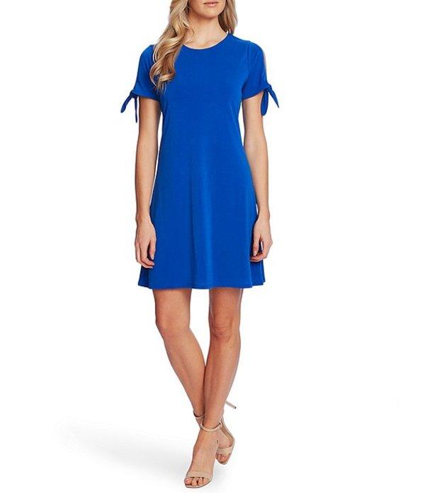 セセ レディース ワンピース トップス Short Tie Sleeve Knit Dress Deep Royal Blue