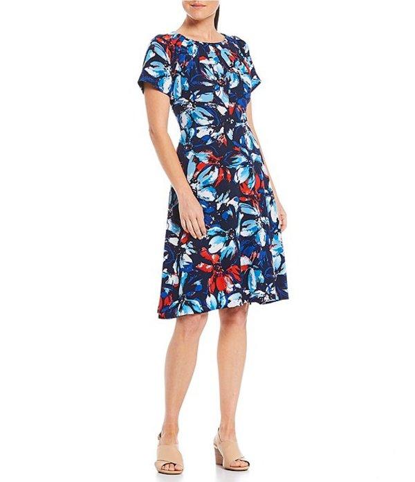 プレストンアンドヨーク レディース ワンピース トップス Juliet Floral Dress Navy/Poppy