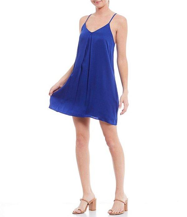 ジャンビニ レディース ワンピース トップス Aria V-Neck Sleeveless A-Line Dress Cobalt