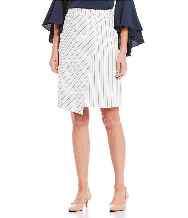 プレストンアンドヨーク レディース スカート ボトムス Rona Stripe Pencil Skirt White/Navy