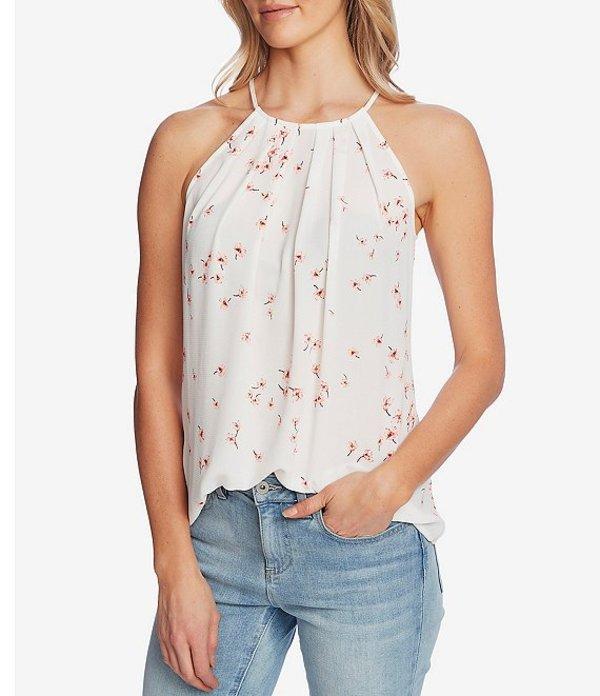 セセ レディース シャツ トップス Sleeveless Floral Halter Top Soft Ecru