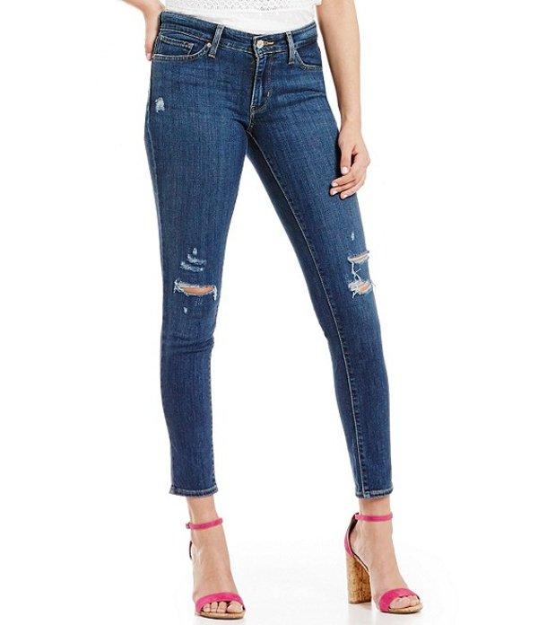 リーバイス レディース デニムパンツ ボトムス Levi'sR 711 Destructed Stretch Skinny Jeans Damage Is Done